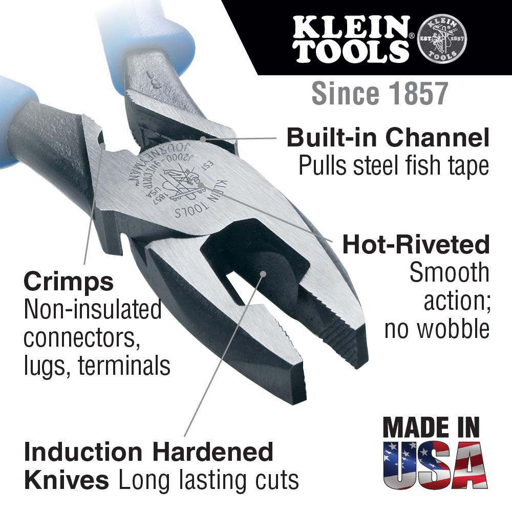 Klein Tools,J2000-9NECRTP,High Leverage Side Cutting Pliers