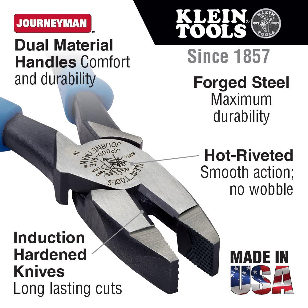 Klein Tools,J2000-9NE,Pliers, Heavy Duty Side Cutting
