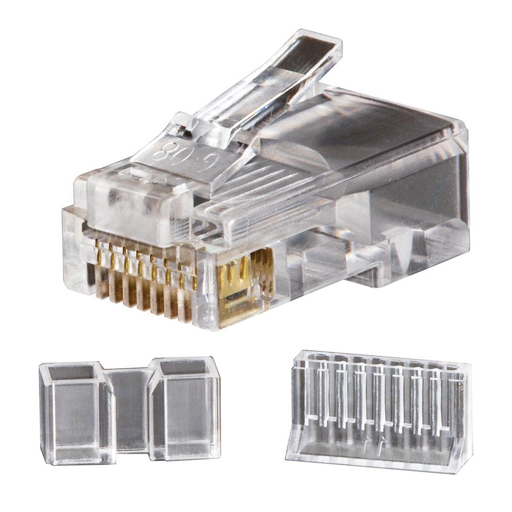 Modular Data Plugs RJ45 CAT6, 25-Pack