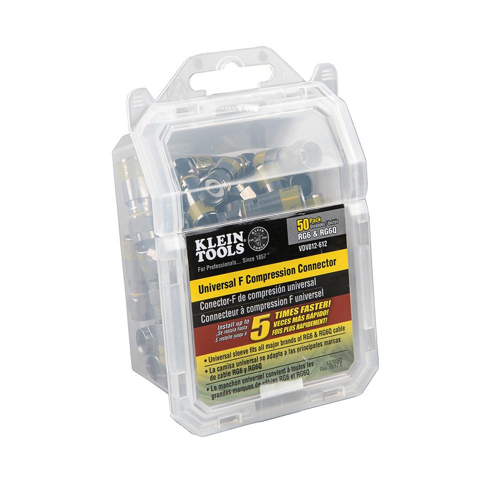 Universal F Compression Connectors RG6/6Q 50-Pack