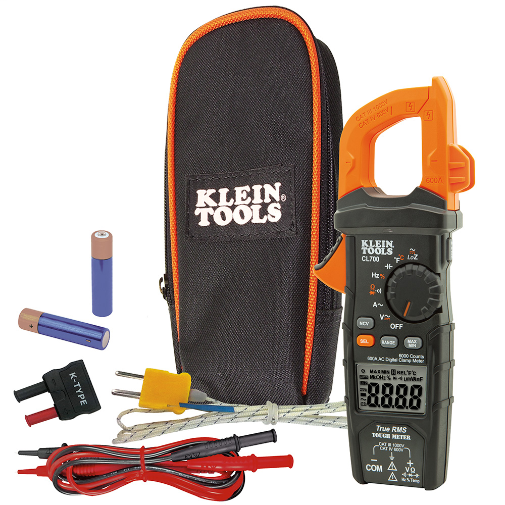 Digital Clamp Meter, AC Auto-Ranging TRMS, Low Impedance (LoZ) Mode
