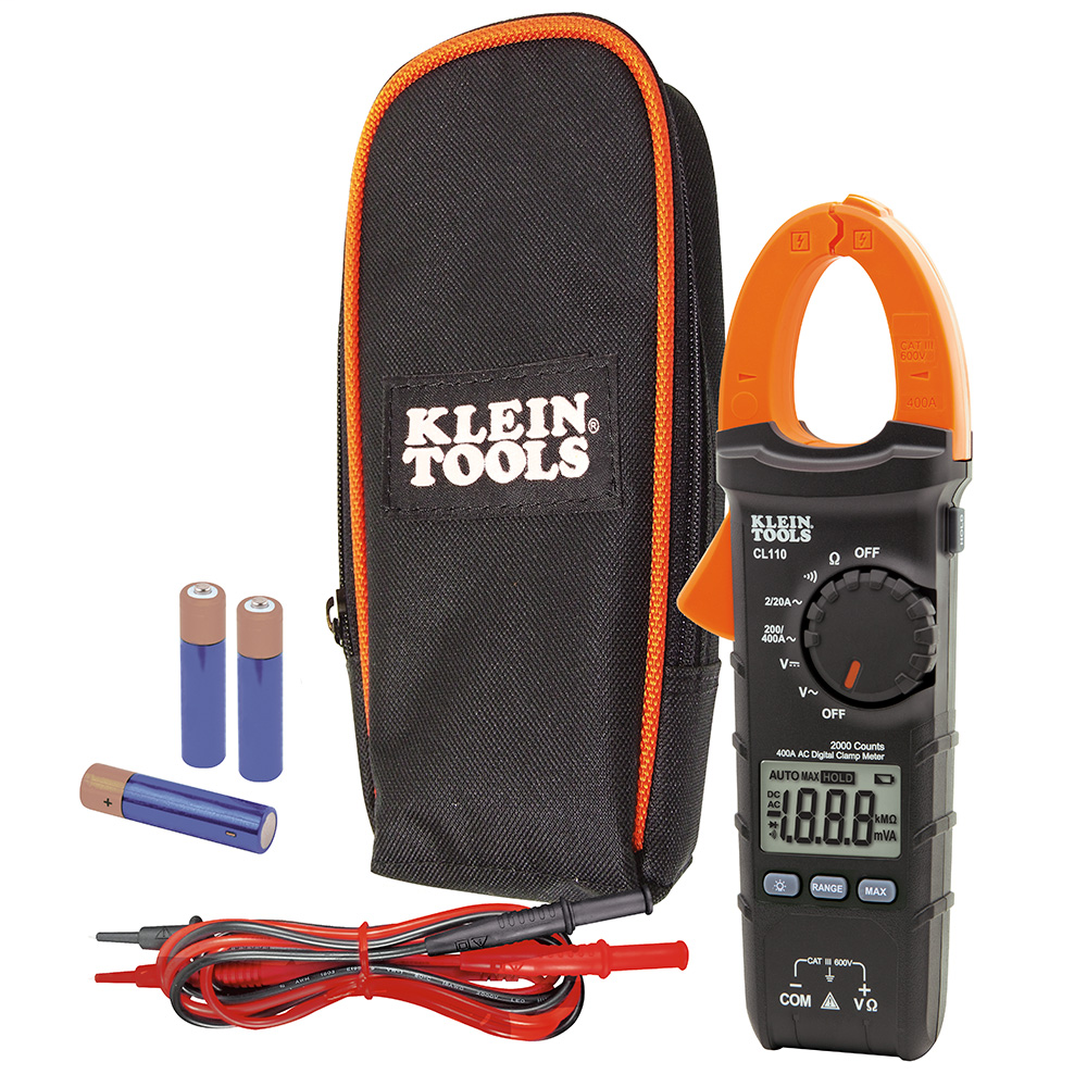 Clamp Meter, Digital AC Auto-Ranging Tester, 400 Amp