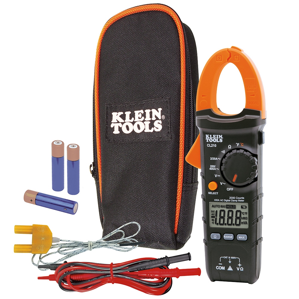 Clamp Meter, Digital AC Auto-Ranging Tester with Thermocouple Probe