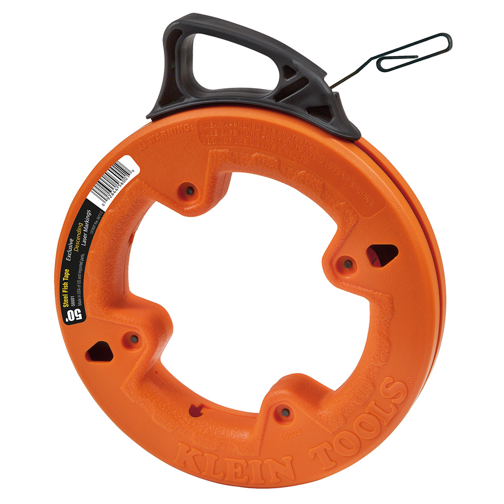 Klein Tools 56001 50 Foot 1/8 Inch Wide Steel Fish Tape