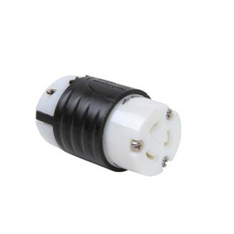 PASS & SEYMOUR 20 Amp NEMA Connector L620 - Black Back, White Front Body