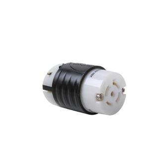 PASS & SEYMOUR 20 Amp NEMA Connector L2120 - Black Back, White Front Body