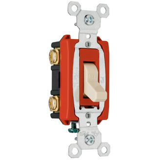 PASS & SEYMOUR Hard Use Specification Grade Switch, Ivory