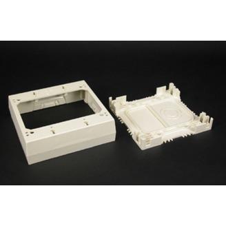 Wiremold 2347-2-WH 4-3/4 x 4-7/8 x 1-3/8 Inch White Non-Metallic 1-Channel Raceway 2-Gang Device Box