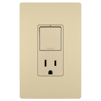 Pass & Seymour RCD38TRI 15 Amp 1-Pole 3-Way Ivory Tamper-Resistant Outlet Switch