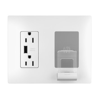 Pass & Seymour Radient White 3.1 USB Wireless Charger 15 Amp Receptacle