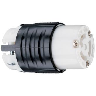 PASS & SEYMOUR 15 Amp NEMA L515 Connector - Black Back, White Front Body