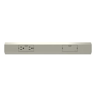 Wiremold APMT18TM4 18 Inch 120 Volt 15 Amp Outlet Module Titanium Lighting Modular Track
