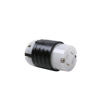 PASS & SEYMOUR 20 Amp NEMA Connector L1620 - Black Back, White Front Body