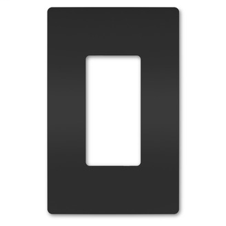 Pass & Seymour RWP26BK 1-Gang Black Polycarbonate Screwless Wallplate