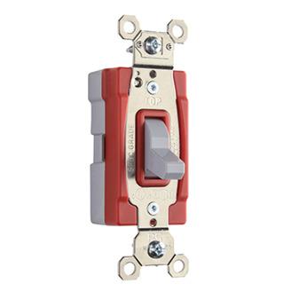 PASS & SEYMOUR PlugTail� Three-Way 20 amp Toggle Switch, Gray