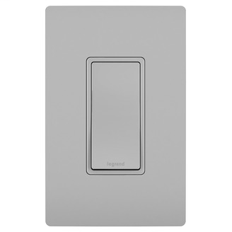 PASS & SEYMOUR 15A Single Pole Switch, Gray