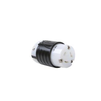 PASS & SEYMOUR 20 Amp NEMA Connector L720 - Black Back, White Front Body