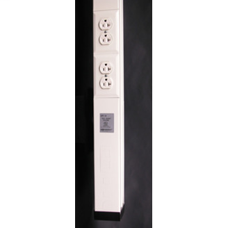 Wiremold 30TP-4V 3.2 m 125 Volt 20 Amp Ivory Steel 2-Compartment Power and Communication Pole