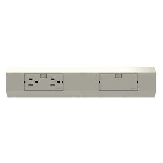 Wiremold APMT12TM2 12 Inch 120 Volt 15 Amp Outlet Module Titanium Lighting Modular Track