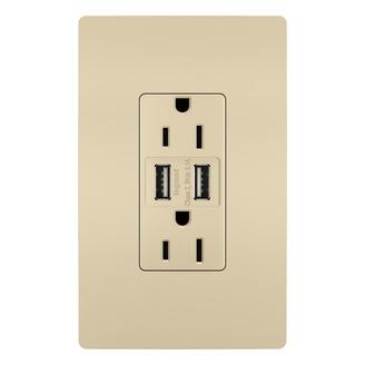 PASS & SEYMOUR 3.1 USB + DUPLEX 15A IV