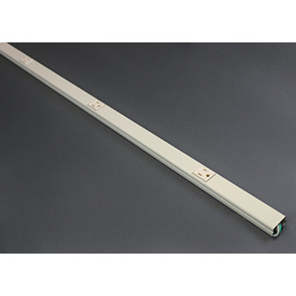 Wiremold V20GB512 12 Inch Center Distance Ivory Steel Single Raceway Multi-Outlet Strip