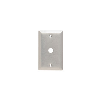 PASS & SEYMOUR Communication Plate, One Gang, 302/304 Stainless Steel