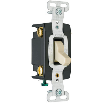 PASS & SEYMOUR Hard Use Specification Grade Switch, Gray