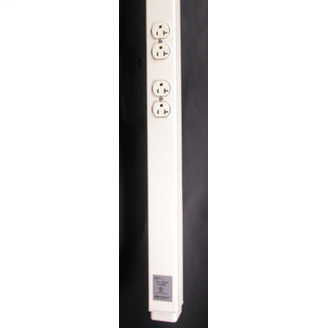 WIREMOLD 25DTP Series Tele-Power Poles