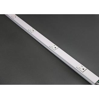 "Wiremold BK20GB306TR 3 Foot x 1-9/32 x 3/4"" Black Steel 1-Channel Raceway Tamper Resistant Multi-Outlet System"