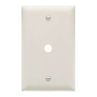PASS & SEYMOUR Communication Plate, One Gang, Light Almond