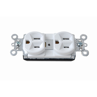 PlugTail� Spec Grade Receptacles, 15A, 125V, White