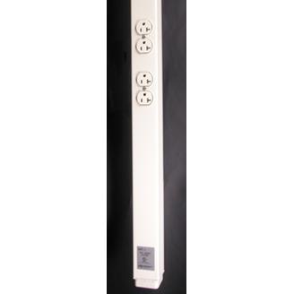 WIREMOLD 25DTP-415 - 25DTP Series Steel Tele-Power Pole