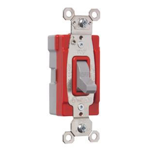 PASS & SEYMOUR PlugTail� Single Pole 20 amp Toggle Switch, Gray