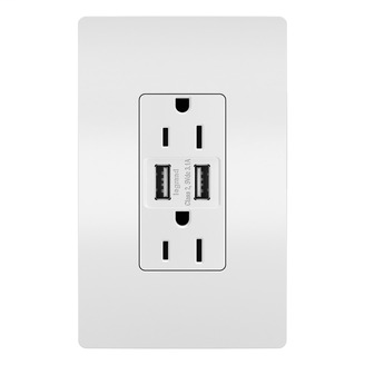 PS TM826USBW 3.1 USB + 15A DuplexOutlet, White