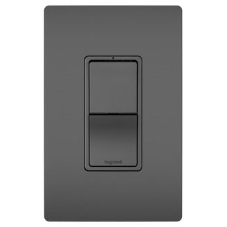 Legrand Radiant RCD33BK 2-Pole 3 Way Black Switch