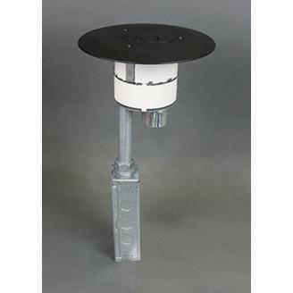 Wiremold 4FFATC15BK 4 Inch Black Furniture Feed Style Poke-Through Assembly