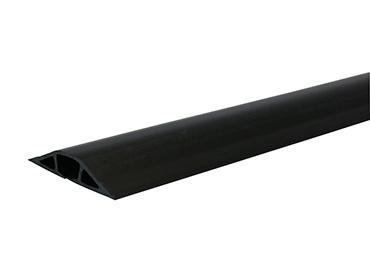 Wiremold BK1400-5 3 x 20/32 Inch Black Non-Metallic 1-Channel Flexible Pancake Overfloor Raceway