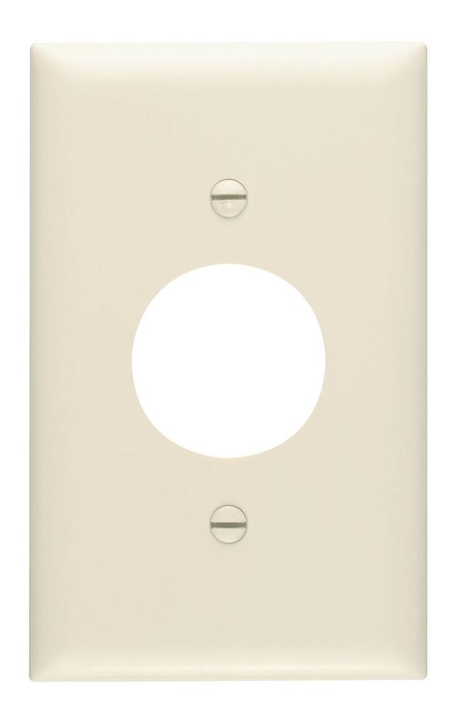 Pass & Seymour TP7-LA 1-Gang 1-Single Receptacle Light Almond Nylon Standard Unbreakable Wallplate