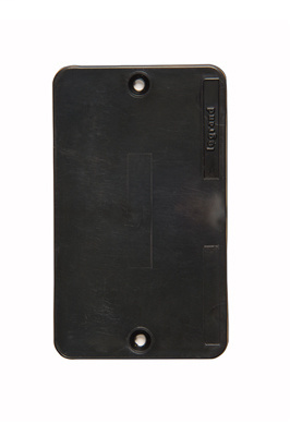 P&S 3054BK 1G BLACK BLANK COVER PLA
