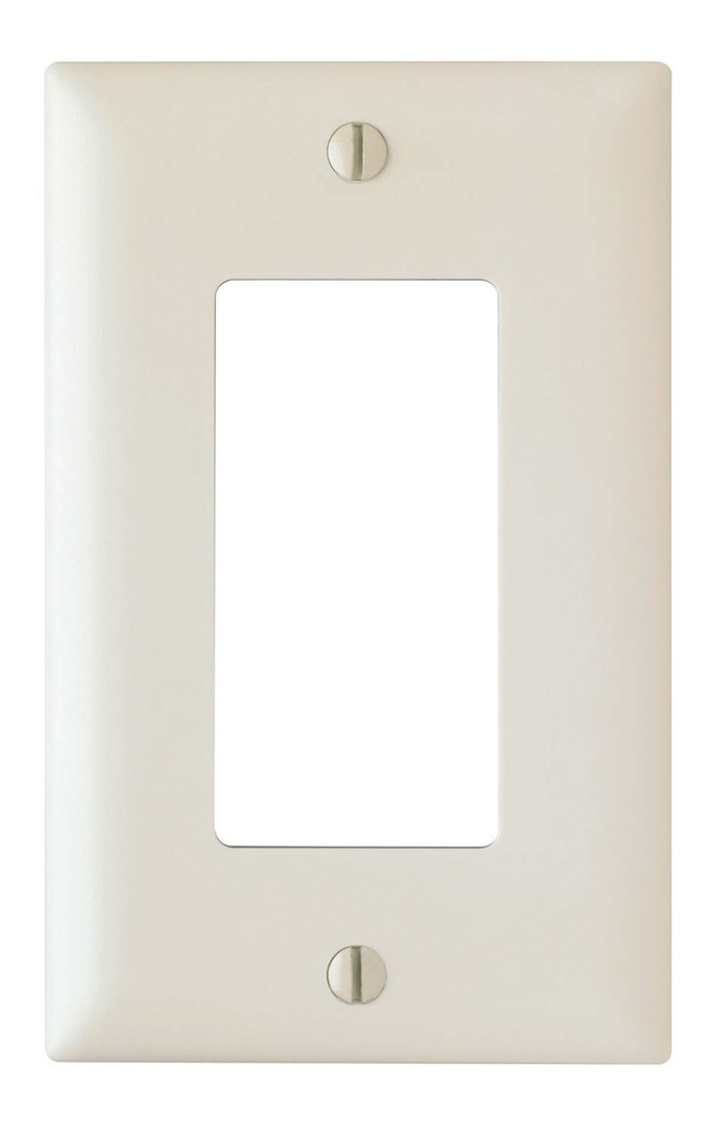Pass & Seymour TP26-W 1-Gang 1-Decorator White Nylon Standard Unbreakable Wallplate