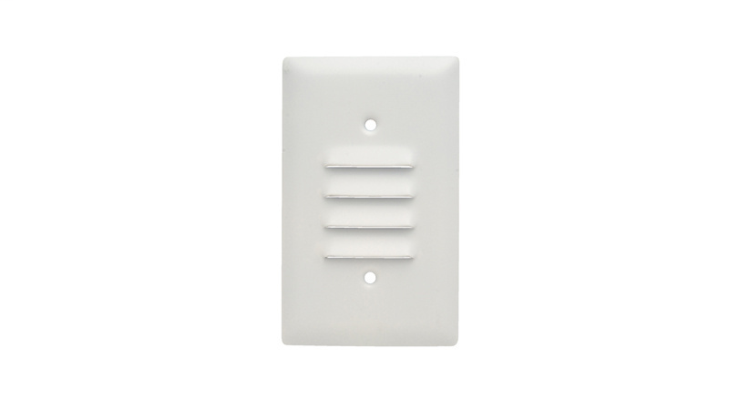 Pass & Seymour SS771-W 1-Gang Vertical Louver White Painted Smooth Brushed Stainless Steel Standard Wallplate