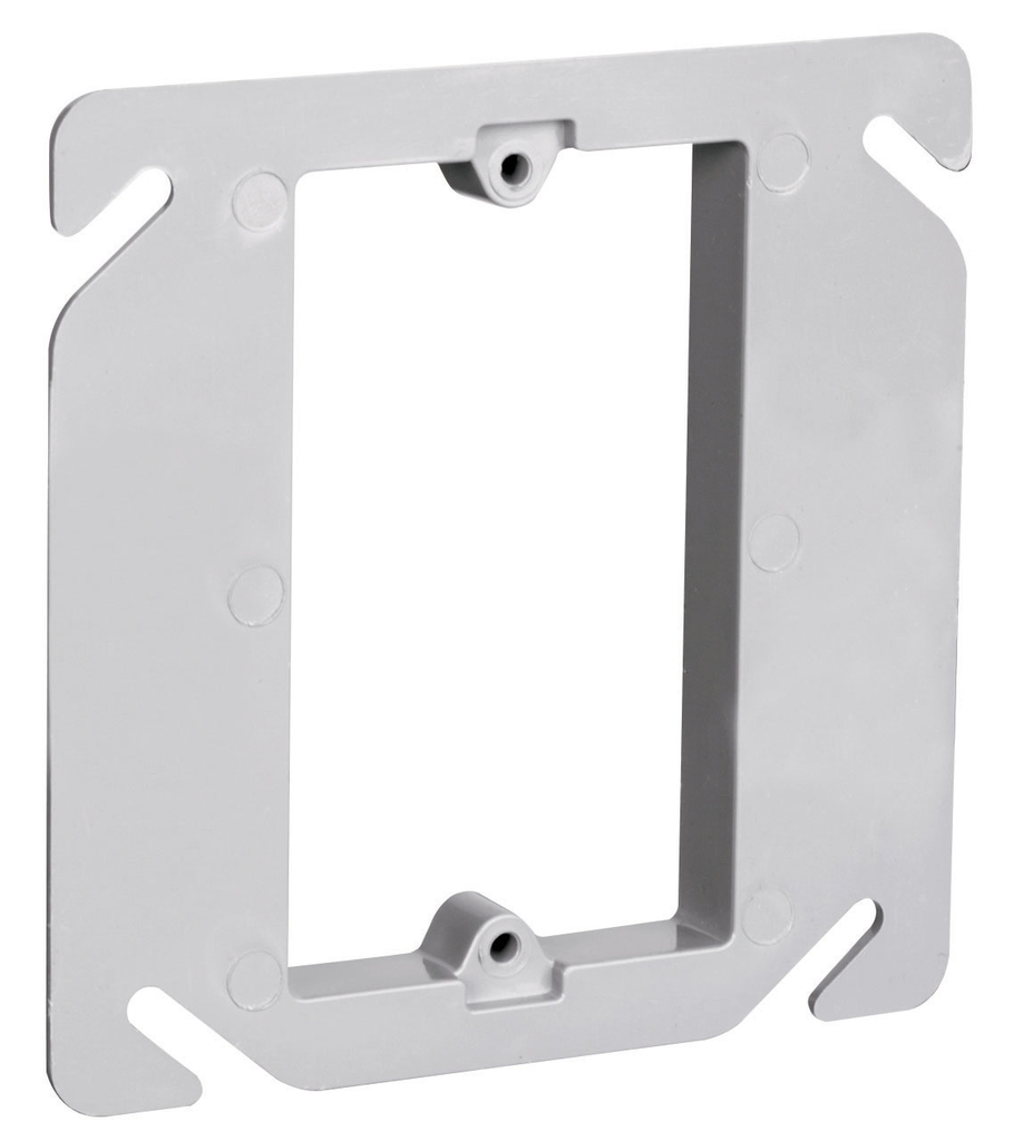Pass & Seymour RC-1 4-1/4 x 4-1/4 Inch 3.2 In Plastic Raised Square Box Cover