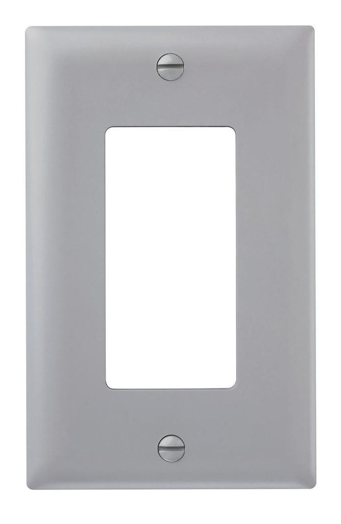 Wattstopper TP26-GRY 1-Gang 1-Decorator Gray Nylon Standard Unbreakable Wallplate