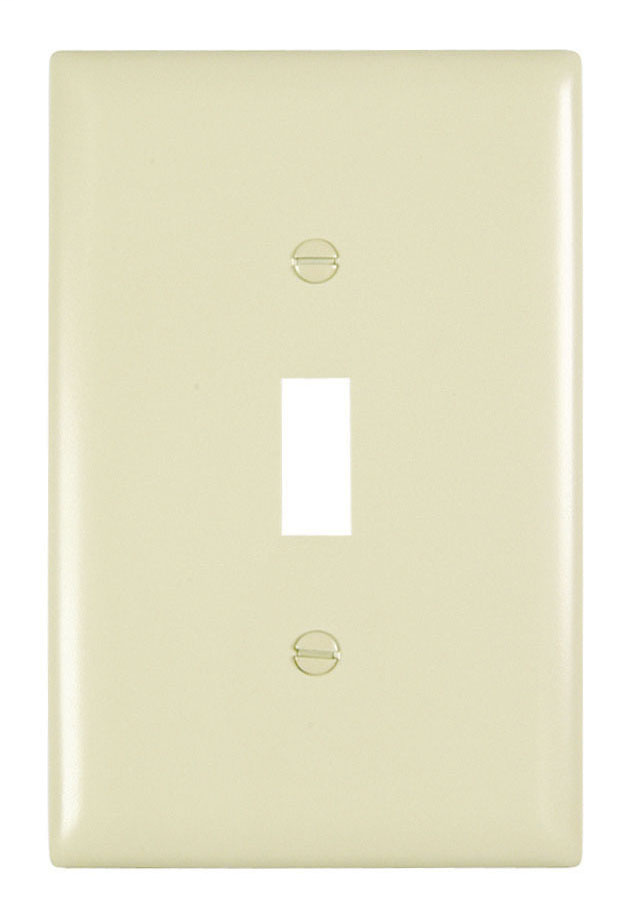 Pass & Seymour TPJ1-LA 1-Gang 1-Toggle Switch Light Almond Nylon Jumbo Unbreakable Wallplate