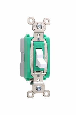 Pass & Seymour PS30AC1-W 30 Amp 120/270 VAC 1-Pole White Glass Reinforced Nylon Screw Mounting Toggle Switch
