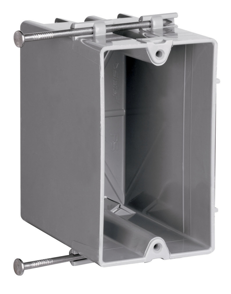 """Pass & Seymour P1-22-R 3.75 x 2.25 x 3.37"""" 22.5 Square Foot 1-Gang Plastic Deep Quick/Click Switch and Outlet Box"""