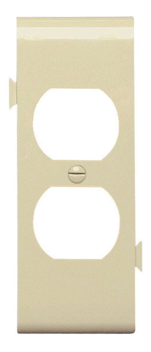 Pass & Seymour PJSC8-I 1-Duplex Receptacle Ivory Smooth Nylon Semi-Jumbo Center Sectional Wallplate