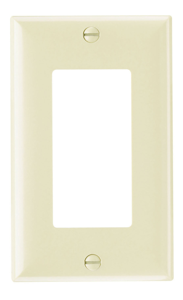 Pass & Seymour SP26-I 1-Gang 1-Decorator Ivory Smooth Thermoset Plastic Standard Wallplate