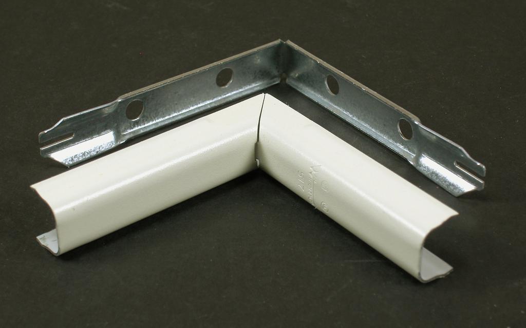 """Wiremold V517 2-3/4"""" Ivory Steel 1-Channel Raceway Internal Elbow"""