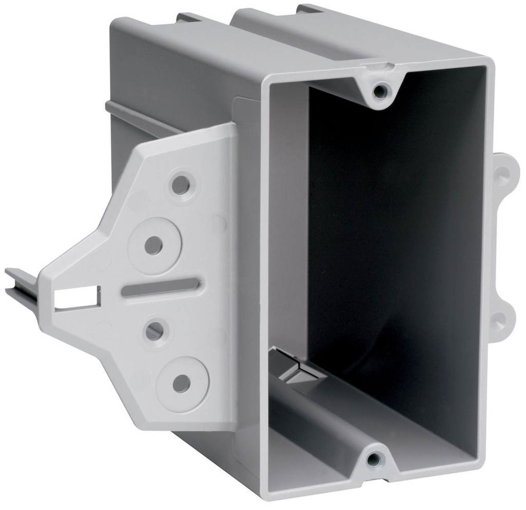 Pass & Seymour P122C 3-3/4 x 2-1/4 x 4 Inch 22 In 1-Gang Switch and Outlet Box with Mounting Hole
